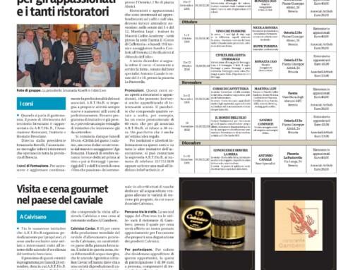 Calendario Corsi per Ristoratori ed Appassionati di Ristorazione.